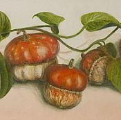 Картины и панно handmade. Livemaster - original item Amazing pumpkin, oil, still life. Handmade.