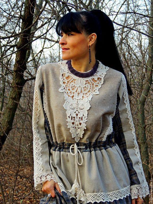 Платья ручной работы. Ярмарка Мастеров - ручная работа. Купить Зимнее БОХО платье (№11). Handmade. Комбинированный, платье с кружевом