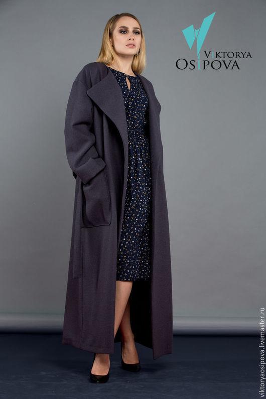 Верхняя одежда ручной работы. Ярмарка Мастеров - ручная работа. Купить Пальто оверсайз. Handmade. Тёмно-фиолетовый, модное пальто