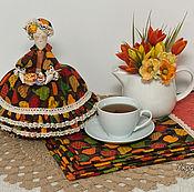 """Для дома и интерьера ручной работы. Ярмарка Мастеров - ручная работа Грелка на чайник. """"Фруктовый пирог"""" Красивый подарок. Handmade."""