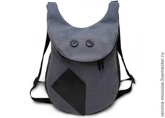 Рюкзаки ручной работы. Ярмарка Мастеров - ручная работа. Купить Рюкзак Смайлик XL. Handmade. Однотонный, подарок, сукно, сукно
