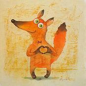 """Картины и панно ручной работы. Ярмарка Мастеров - ручная работа Лисёнок """" С любовью!"""". Handmade."""