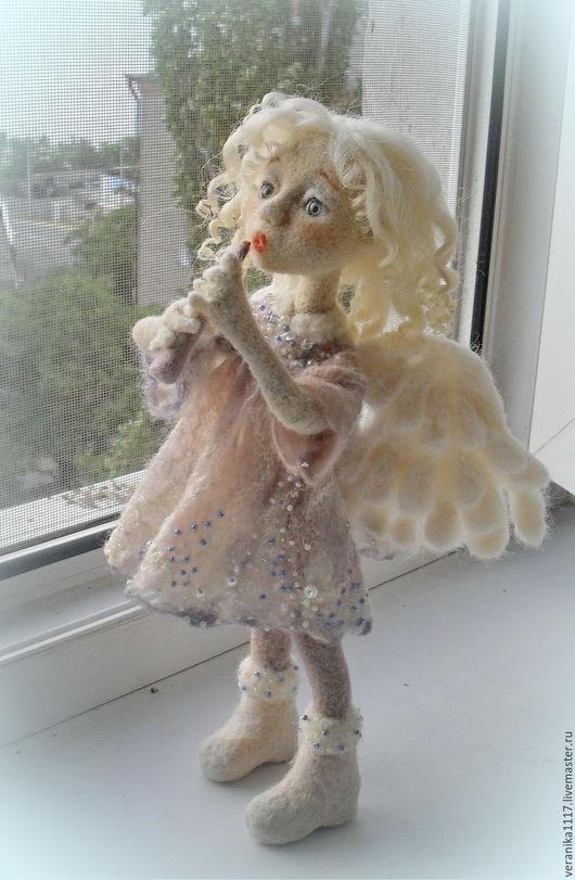 """Сказочные персонажи ручной работы. Ярмарка Мастеров - ручная работа. Купить Кукла из шерсти """"Утренний Ангел"""". Handmade. Белый"""