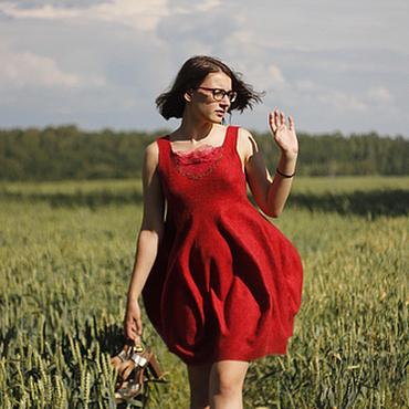 """Одежда ручной работы. Ярмарка Мастеров - ручная работа Платье """"Красный тюльпан"""". Handmade."""