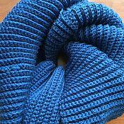 Аксессуары handmade. Livemaster - original item Sea blue Scarf-Snood in two turns. Handmade.