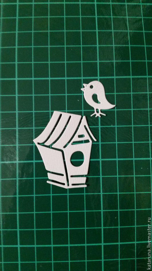 Открытки и скрапбукинг ручной работы. Ярмарка Мастеров - ручная работа. Купить Птичка с домиком. Handmade. Детская вырубка, осенняя вырубка