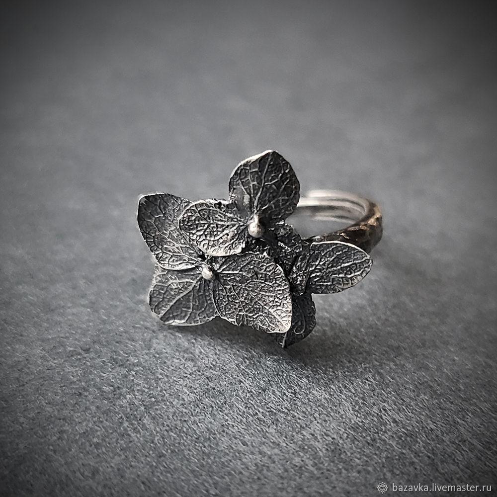 Серебряное кольцо Гортензия 3, Кольца, Пенза,  Фото №1