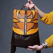 Сумки и аксессуары handmade. Livemaster - original item Backpack women`s leather Mustard. Handmade.