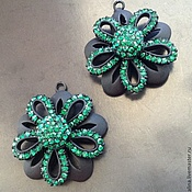 Материалы для творчества handmade. Livemaster - original item Pendant volume Green Flower art. 7-16A. Handmade.