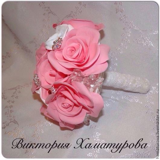Свадебные цветы ручной работы. Ярмарка Мастеров - ручная работа. Купить Букет из роз. Handmade. Белый, фом, свадьба, фом