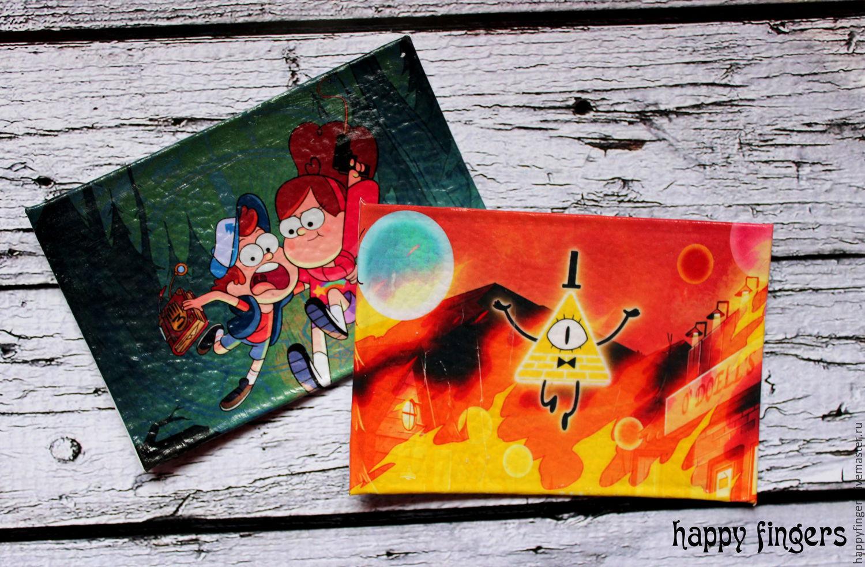 """Кардхолдер для проездного карточки кожа """"Гравити Фолз"""", Gravity Falls, Covers handmade, Elektrostal, Фото №1"""