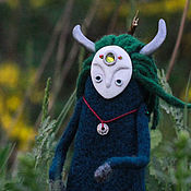 Куклы и игрушки ручной работы. Ярмарка Мастеров - ручная работа дух лесной,рогатый) сказочное существо. Handmade.