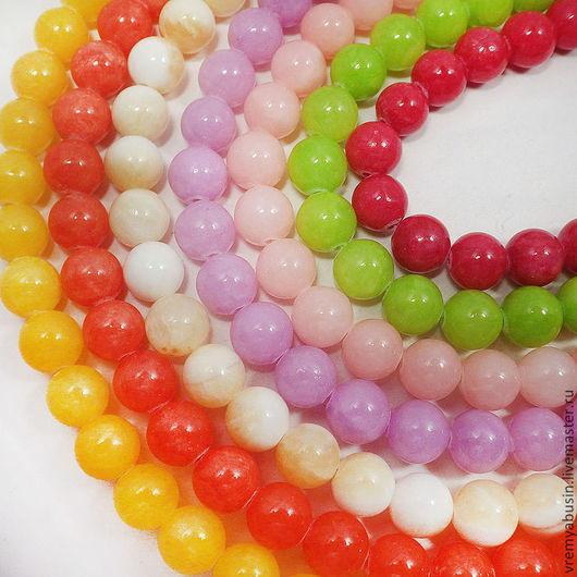 Для украшений ручной работы. Ярмарка Мастеров - ручная работа. Купить 0942. Бусины для браслетов 10 мм гладкие шарики. Handmade.