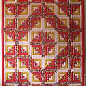 Для дома и интерьера handmade. Livemaster - original item Patchwork quilt bedspread Red. Handmade.