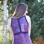 Одежда ручной работы. Ярмарка Мастеров - ручная работа Miss Saigon, вечернее валяное платье в технике нунофелтинг. Handmade.