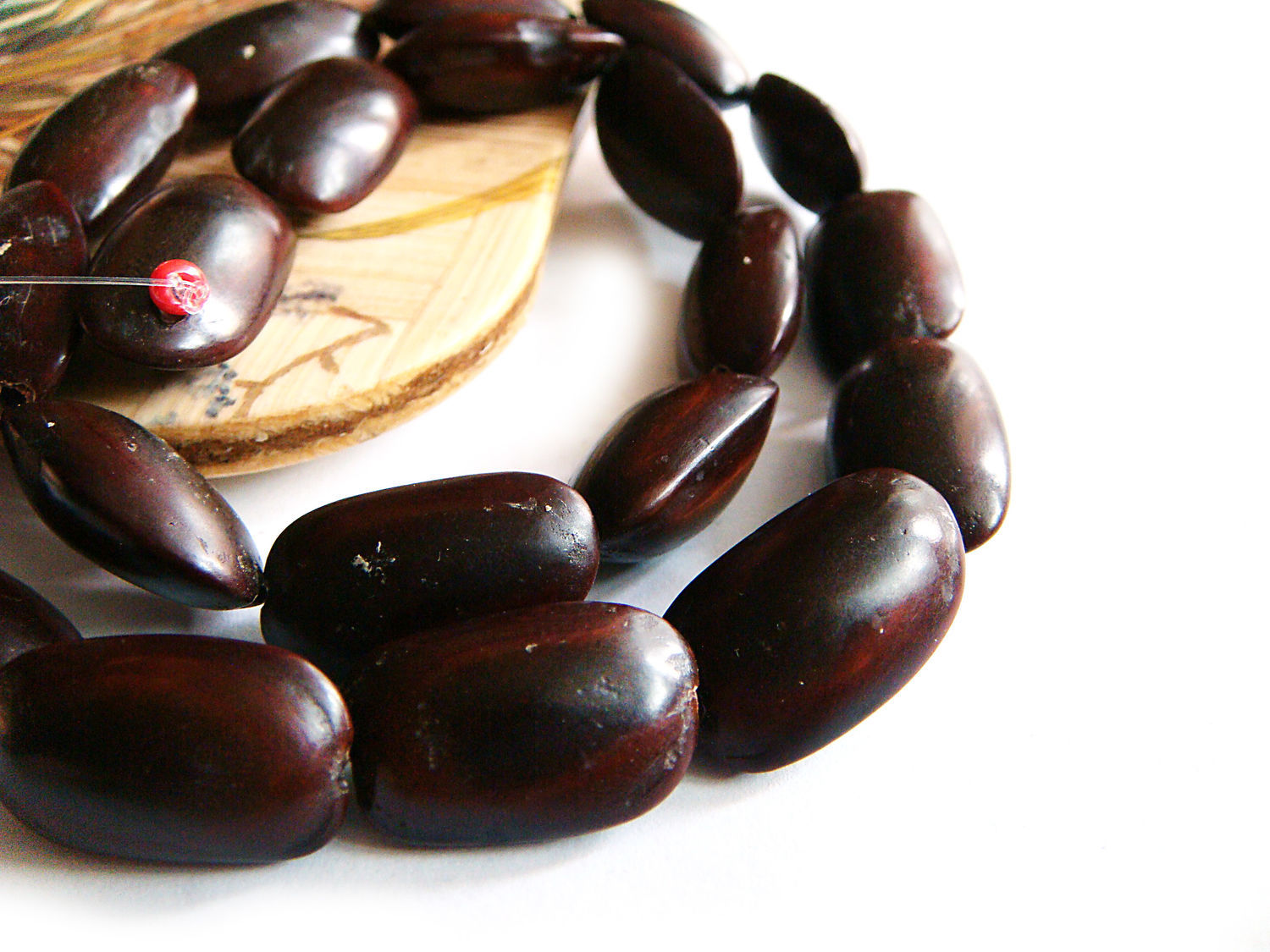 Beads the Seeds of the tree Ipil 20h12mm, Beads1, Bryansk,  Фото №1