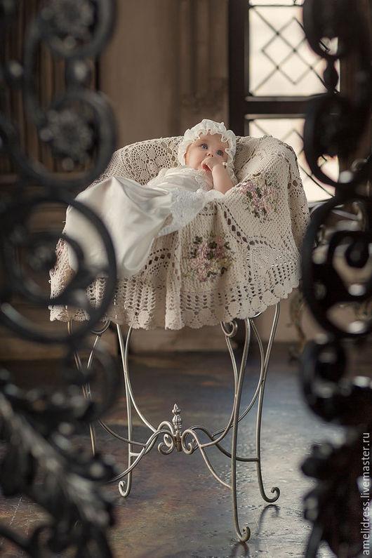 Крестильные принадлежности ручной работы. Ярмарка Мастеров - ручная работа. Купить Маленькая невеста. Handmade. Белый, Таинство Крещения, шёлк