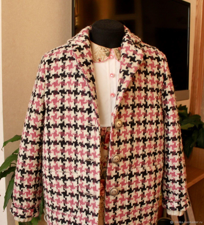 Одежда для девочек, ручной работы. Ярмарка Мастеров - ручная работа. Купить Пальто в клетку. Handmade. Пальто, Пальто ручной работы