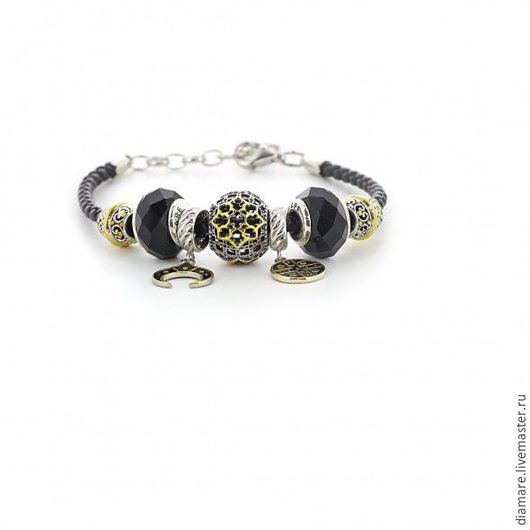 Серебряный шарм `Древнерусская вышивка` Арт. 05-0300.
