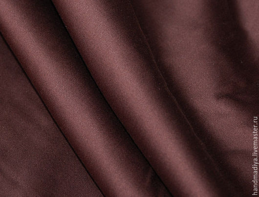Шитье ручной работы. Ярмарка Мастеров - ручная работа. Купить Хлопок сатин цвет шоколадный - красивая ткань для шитья. Handmade.