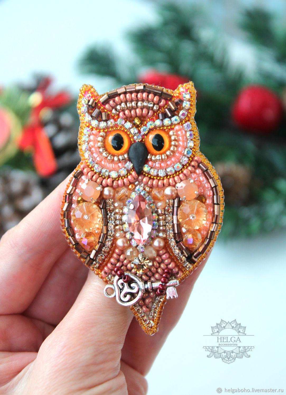 Brooch-pin: OWL, Brooches, Samara,  Фото №1