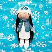 Тыквоголовка ручной работы. Ярмарка Мастеров - ручная работа Куколка: Джинсовая курточка. Handmade.