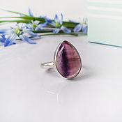 Украшения handmade. Livemaster - original item Silver ring with fluorite. Handmade.
