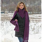 """Аксессуары ручной работы. Ярмарка Мастеров - ручная работа """"Пурпурный"""" шарф. Handmade."""
