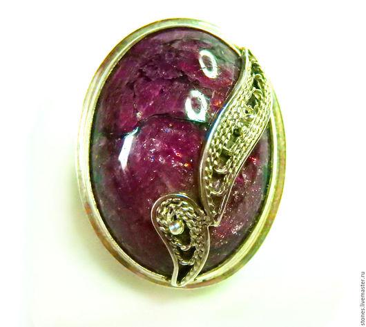 """Кольца ручной работы. Ярмарка Мастеров - ручная работа. Купить Кольцо  """"ЭВДИАЛИТ"""".. Handmade. Кольцо с эвдиалитом, украшения с камнями, для женщины"""