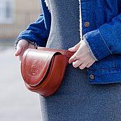Сумки и аксессуары handmade. Livemaster - original item Women`s waist bag made of leather - AMPHITRITE. Handmade.