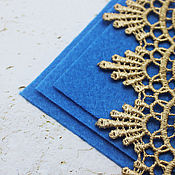 Материалы для творчества handmade. Livemaster - original item Felt base for embroidery 15/15 cm Blue thickness 1 mm. Handmade.