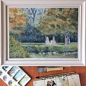 Картины и панно ручной работы. Ярмарка Мастеров - ручная работа Осенняя свадьба. Handmade.