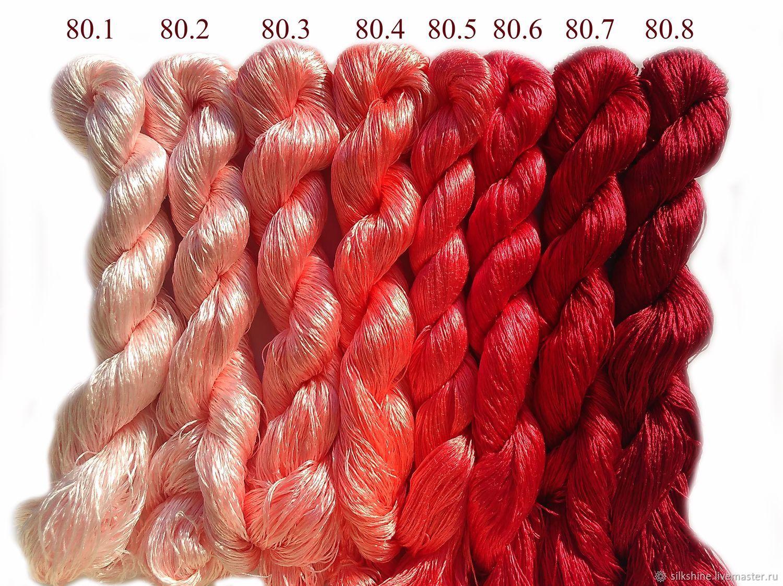 Нитки шелковые для вышивки, 100% шёлк, Нитки, Москва,  Фото №1