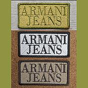 Материалы для творчества handmade. Livemaster - original item Embroidery patch Chevron applique Armani Jeans. Handmade.