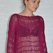 Одежда ручной работы. Ярмарка Мастеров - ручная работа Хлопковый свитер. Handmade.