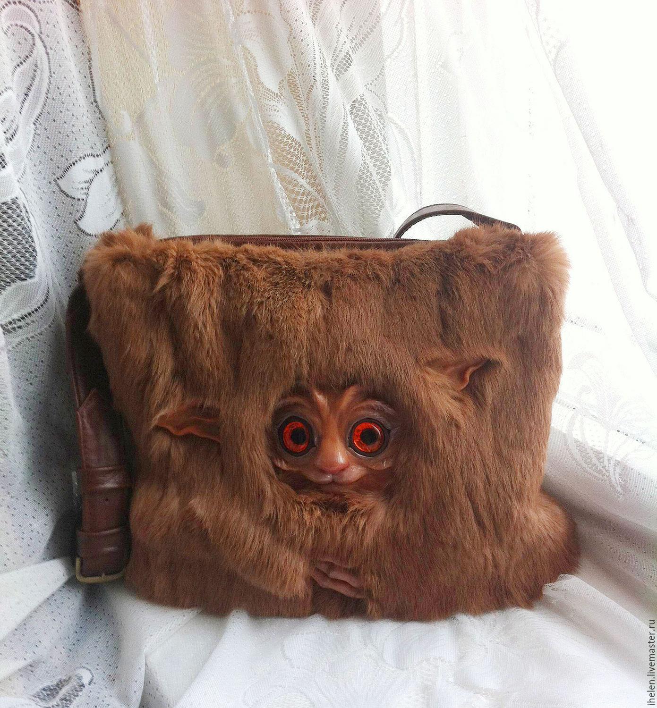 Fur bag with eared Ffrum, Classic Bag, Nizhny Novgorod,  Фото №1