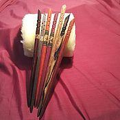 Украшения handmade. Livemaster - original item Hair pins from exotic wood with wooden mosaic, inlay. Handmade.