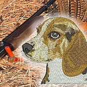 Дизайн и реклама ручной работы. Ярмарка Мастеров - ручная работа Бигль Собака дизайн машинной вышивки. Handmade.