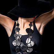 """Украшения ручной работы. Ярмарка Мастеров - ручная работа Бусы из кожи """"Donna"""". Handmade."""