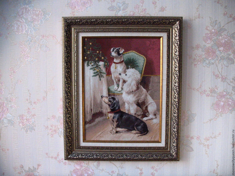 """картина вышитая крестом """"друзья"""", Картины, Москва, Фото №1"""
