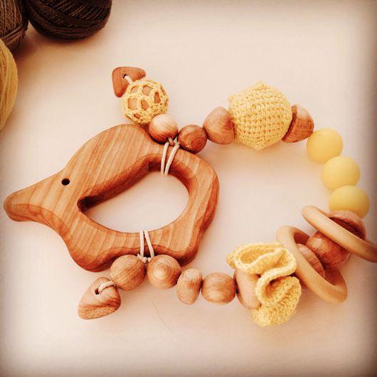 """Развивающие игрушки ручной работы. Ярмарка Мастеров - ручная работа. Купить Развивающая игрушка-погремушка """" мышка с сыром"""". Handmade."""