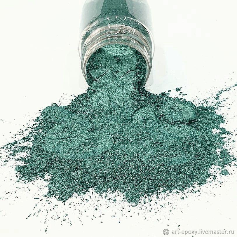 Pearl pigment. Color green. Volume 10 gr, Epoxy resin, Volgograd,  Фото №1