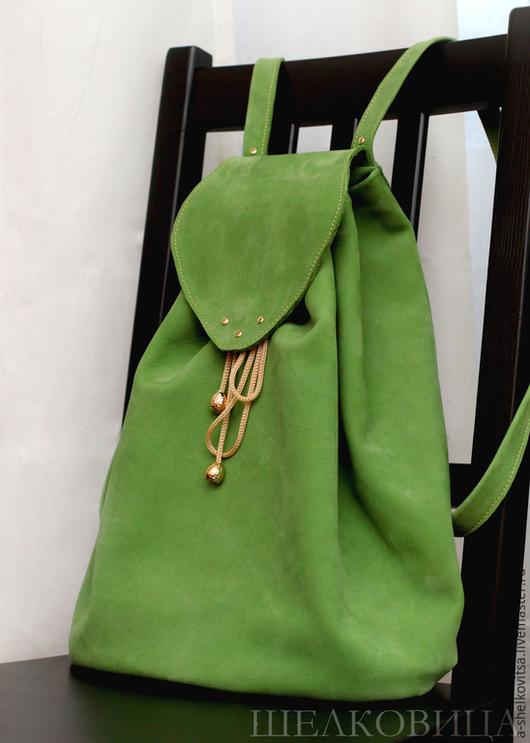 """Рюкзаки ручной работы. Ярмарка Мастеров - ручная работа. Купить Зеленый рюкзак """"Лесной"""". Handmade. Зеленый, рюкзак женский, подарок"""