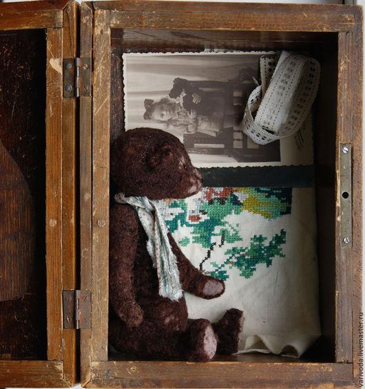 Мишки Тедди ручной работы. Ярмарка Мастеров - ручная работа. Купить Мишка из бабушкиной шкатулки. Handmade. Коричневый, старый мишка