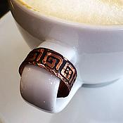 """Украшения ручной работы. Ярмарка Мастеров - ручная работа Медное кольцо """"Арабика"""". Handmade."""