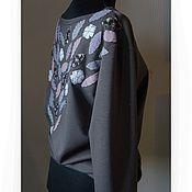 Одежда ручной работы. Ярмарка Мастеров - ручная работа Свитшот с аппликацией. Handmade.