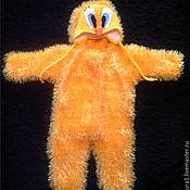 Работы для детей, ручной работы. Ярмарка Мастеров - ручная работа Вязаный комбинезон (из травки теплый зимний на выписку желтый твитти). Handmade.