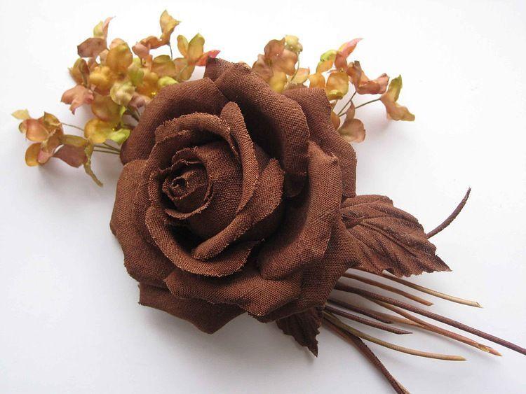 Silk Flowers Boutonniere Rose Eri Indian Silk Eri Shop Online