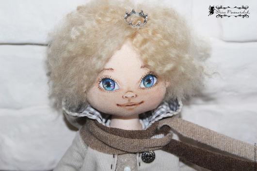"""Коллекционные куклы ручной работы. Ярмарка Мастеров - ручная работа. Купить текстильная кукла """"Маленький принц"""". Handmade. Коричневый"""