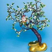Сувениры и подарки ручной работы. Ярмарка Мастеров - ручная работа Конфетное дерево с гномиком. Handmade.